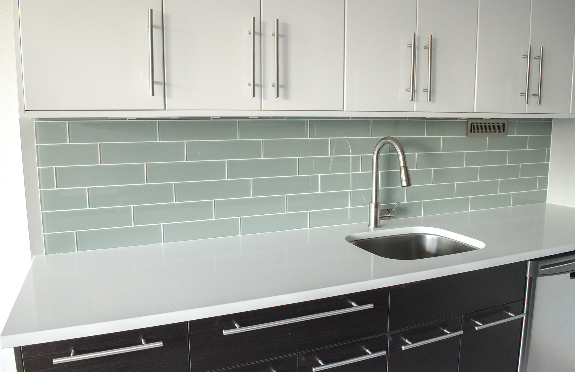 Brick Backsplash in Kitchen