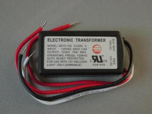 An example of a transformer for low voltage under cabinet lighting